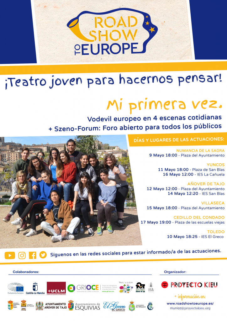 Fechas de las actuaciones de Road Show to Europe