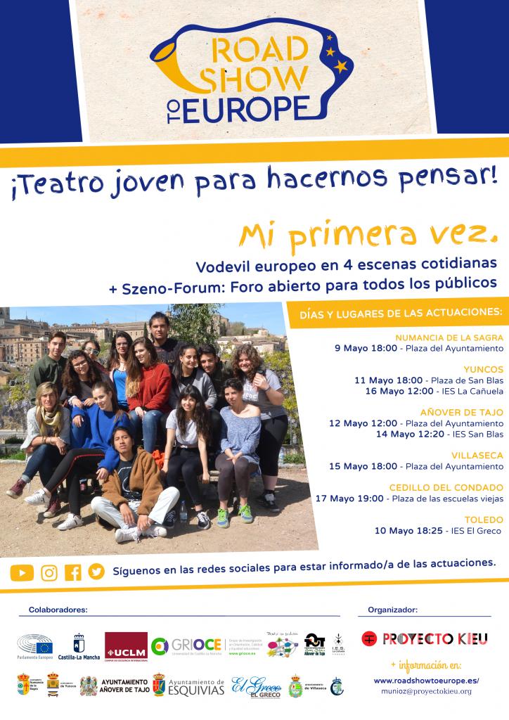 Fechas de las actuaciones de Road Show to Europe